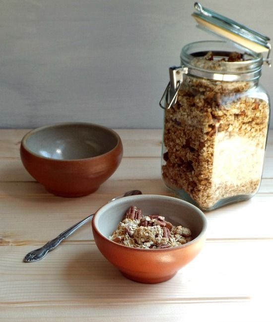 Maple syrup, pecan and peanut butter granola | Fish ...