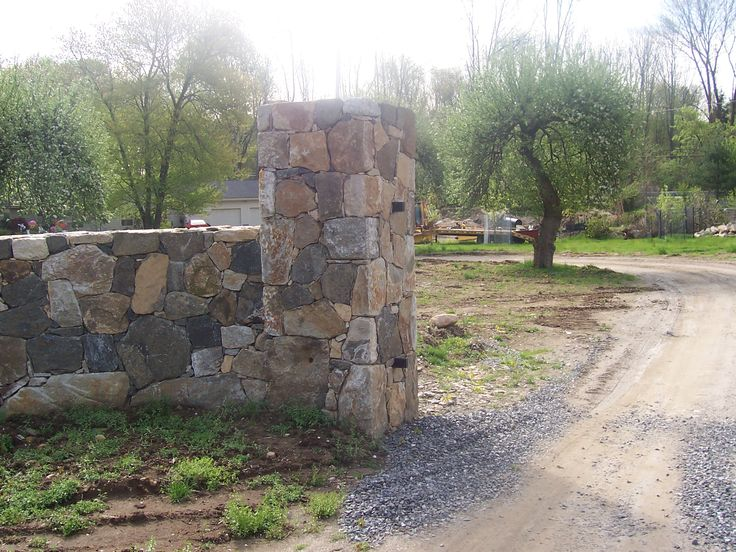 Stone Gate Pillars : Best images about stone work on pinterest entrance