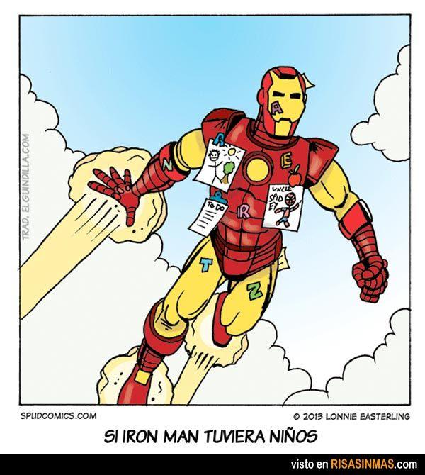 Si Iron man tuviera niños.