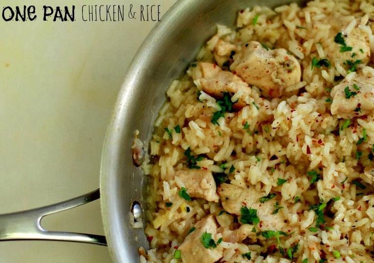 """One Pan Chicken and Rice. Latest recipe from the show """"Dude Food with Sean and Sometimes Adam"""" on ifood.tv"""