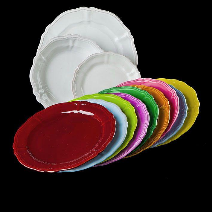 Ceramiche Nicola Fasano, piatti bordo bacchettato
