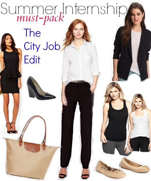 Packing for summer internship: Must haves city