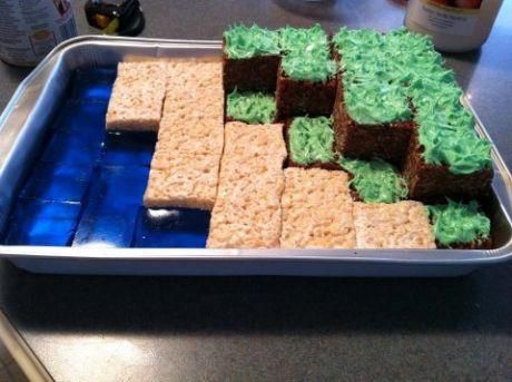Minecraft dessert... Definitely doing this for my man!