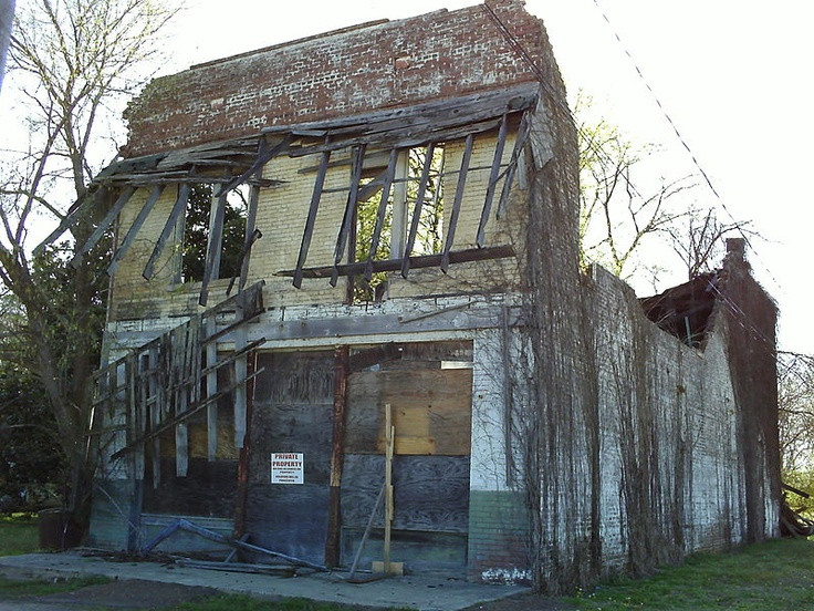 This is the remains of Bryant's Grocery and Meat Market  in Money, Mississippi. This store was where the encounter between Emmett Till (an African-American boy) and Carolyn Bryant took place. Till was murdered in Mississippi at the age of 14 after reportedly flirting with Bryant, a white woman, in 1955.