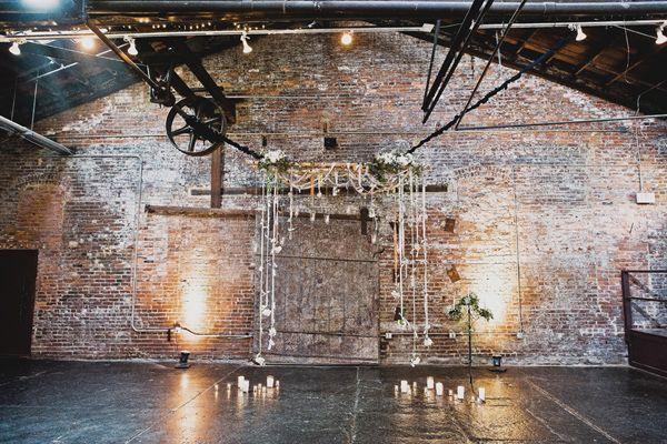 Industrial Ceremony // Atlanta warehouse wedding, captured by Kyle Hale