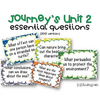 Journey's Unit 2 Grade 5 Essential Questions