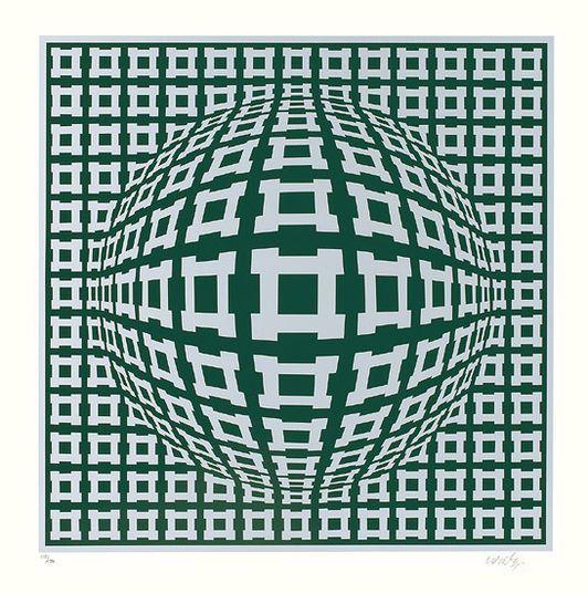 "Victor Vasarely: ""Rosenthal II"" (1988) http://www.kunsthaus-artes.de/de/012920.00/Bild-Rosenthal-II-1988/012920.00.html#cgid=t_geometrie&start=9"