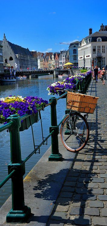 Ghent, Belgium... I met my ex-husband there.  Its filled with beautiful people.  The town square is so quaint.  It was a very fleeting but exciting time in my life.  I am Blessed,  to have seen it.