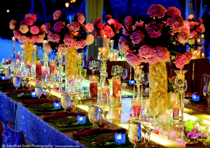 Gorgeous Pink Wedding Centerpieces