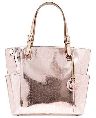 MICHAEL Michael Kors Handbag, Signature Patent East West Tote - Handbags \u0026amp; Accessories - Macy\u0026#39;s
