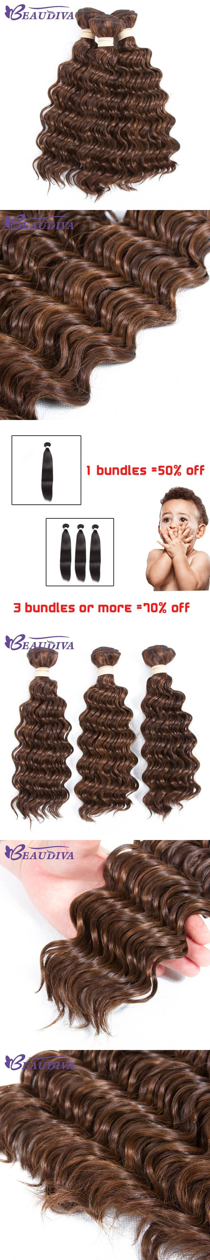 Beaudiva Hair 3 Pieces Ombre Brazilian Deep Wave Hair Bundles Deep Wave Brazilian Hair 8-26inch Human Hair Bundles