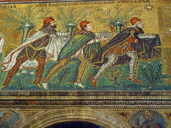 Trzej Królowie. San Apollinare Nuovo w Rawennie, Foto.: (c) Krzysztof Firkowski