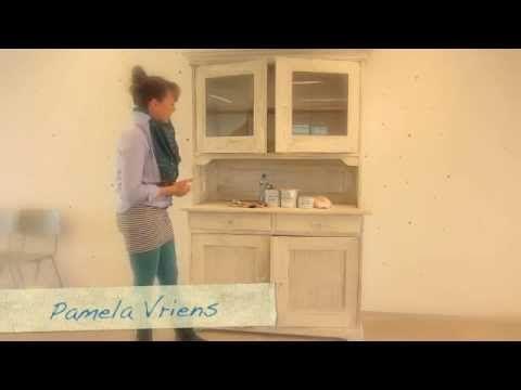 Annie Sloan Kalkverf en Soft wax aanbrengen in 6 minuten (NL) - Peper & Zout Interieursmaakmakers - YouTube -> http://www.peper-zout.com