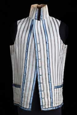 Herenvest | Centraal Museum Utrecht    Herenvest (1775 - 1799 – eind 18de eeuw)    Bruikleen onbekend +.   Inventory # 5415    LOVE the stripes!