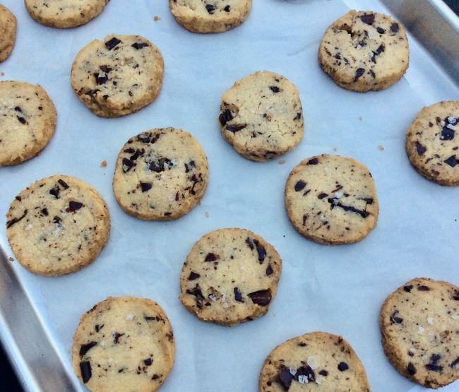 Salty chocolate shortbread cookies. | writes4food