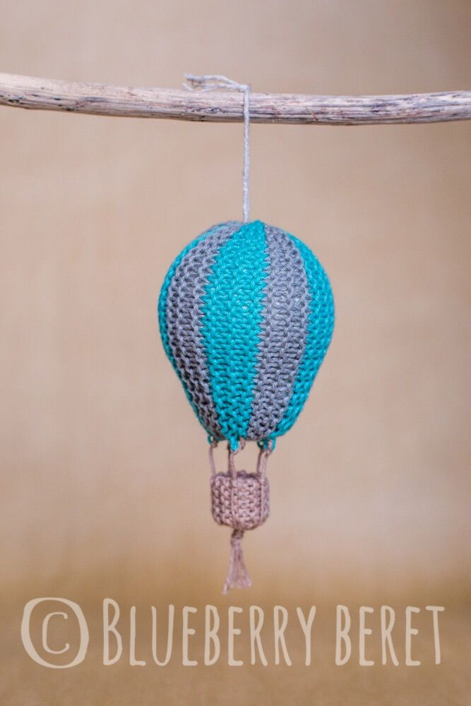 Hot Air Balloon Knitted Nursery Decor **Listing is for 1x Hand-knitted Hot Air Balloon - blue and grey stripe only**  Perfect as a nursery decoration or even a Christmas ornament.  Approx 4.8cm in diameter.  Discounts are available if you would like more than one. Please convo me and I will create a custom listing.   https://nemb.ly/p/SkXyKWDZe Happily published via Nembol