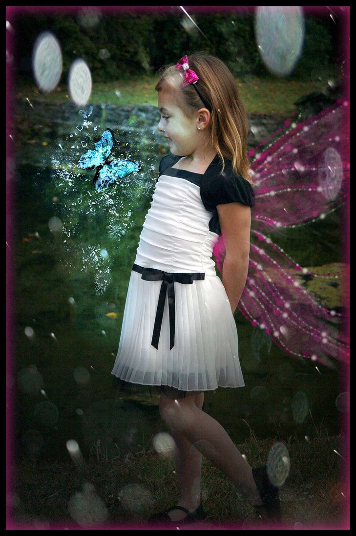 My niece at wedding.  Played with pic on ps.