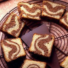 Découvrez la recette Quatre quart marbré sur cuisineactuelle.fr.