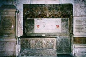 Chaucer's Tomb in Poets' Corner, Westminster Abbey
