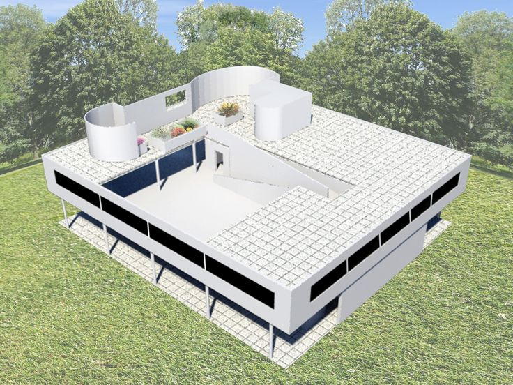 villa savoye / 3D max / axonometric