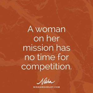Yes, my time is not spent comparing. My time is spent evaluating ways to being better than I was yesterday.