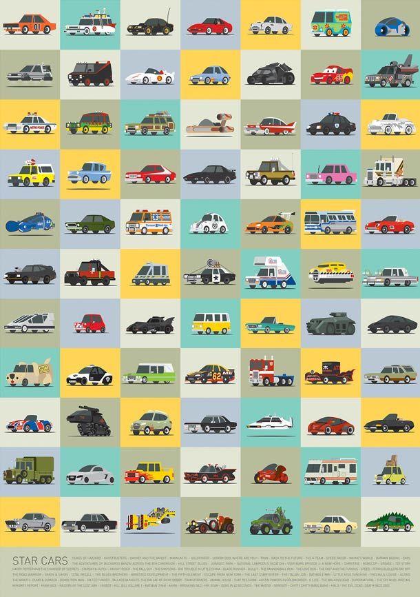 Star Cars – Les véhicules cultes réunis en un poster