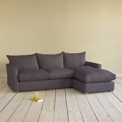 Large Pavilion Chaise - Amazing L-Shaped Comfy Sofas Online Pavilion Chaise in damson vintage linen - Sofas | Loaf