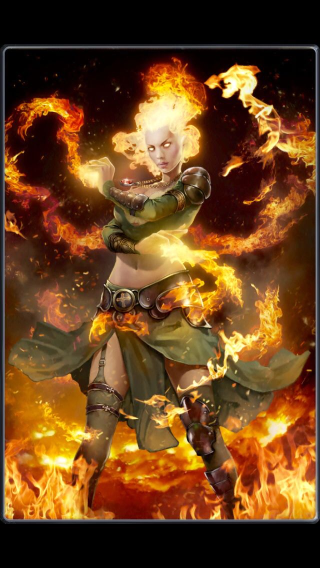 Pyromancer Girl Pyromancers are a branch of elemental ...Female Fire Elemental