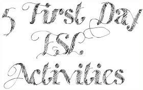 5 First Day Activites | ESL Kids Games