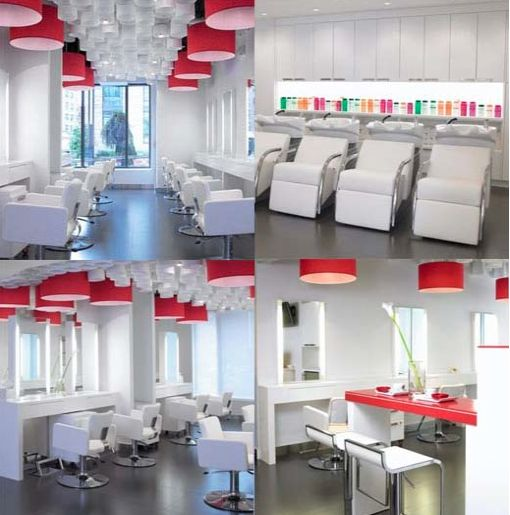 32 best salon design ideas images on pinterest hair salons salon decor and design idea modern red white modern design prinsesfo Images