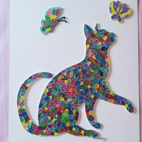 Cat Quilling paper                                                       …                                                                                                                                                     Más
