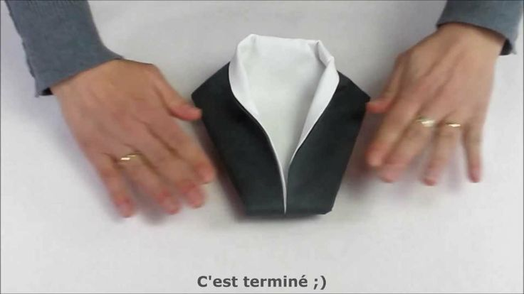 34 best images about pliage de serviette on pinterest taupe smoking and turquoise - Pliage serviette smoking ...