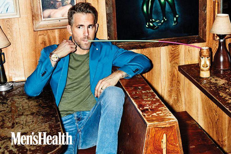 Ryan Reynolds in a #LBM1911 blazer on #Menshealth   #ryanreynolds