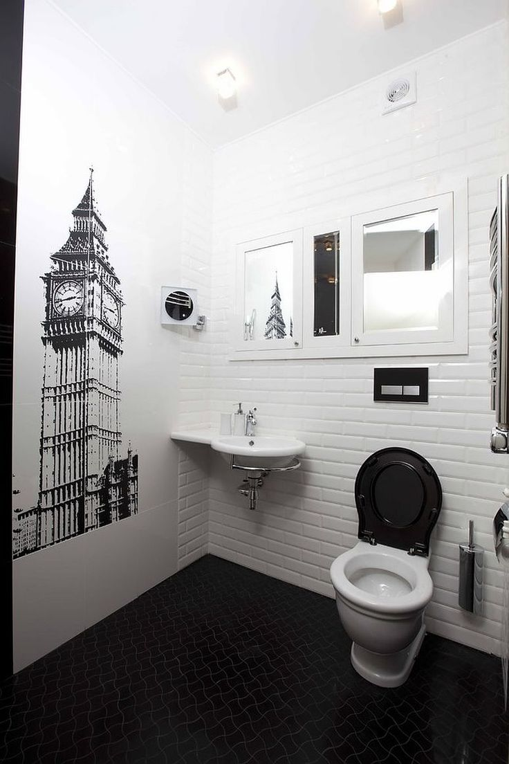 Corner sink frees up space in the rest of the powder room [From: Catherine Gurari Interior Design]