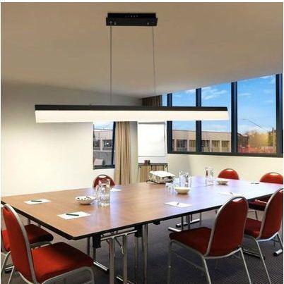 Aliexpress.com: Compre Para home office quarto sala de jantar moderna retangular de linha pendurado lustre de LED com faixa de confiança bulbo do diodo emissor de luz fornecedores em Trustwin lighting