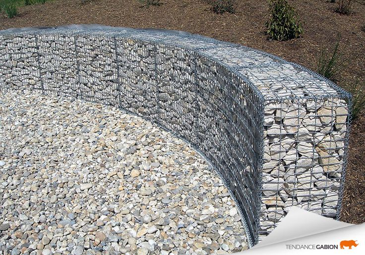tendance gabion petit mur de sout nement en courbe am nagement ext rieur sympa pinterest. Black Bedroom Furniture Sets. Home Design Ideas