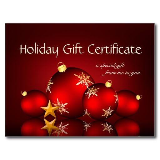 42 best Christmas And Holiday Gift Cards images on Pinterest - christmas gift certificate template free