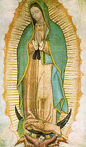 St. Juan Diego - Saints & Angels - Catholic Online  Image of Our Lady of Guadalupe as it currently appears on the tilma
