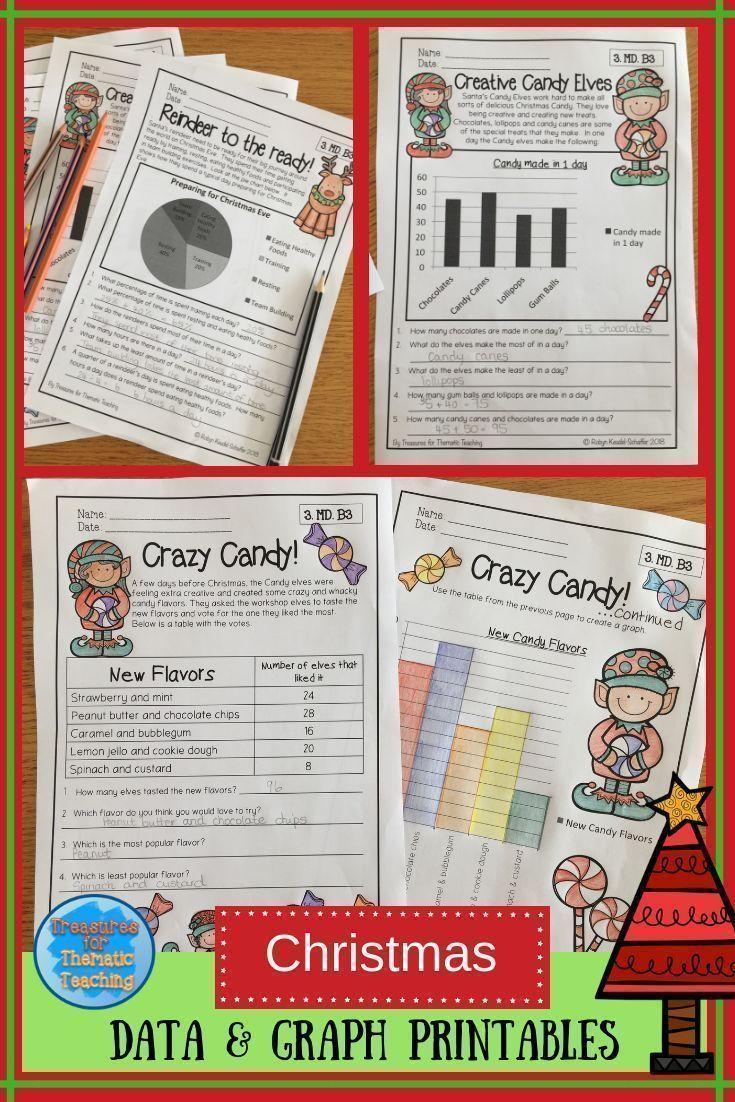 Christmas Math Data And Graph Worksheets Grade 3 Christmas Math Graphing Activities Holiday Worksheets