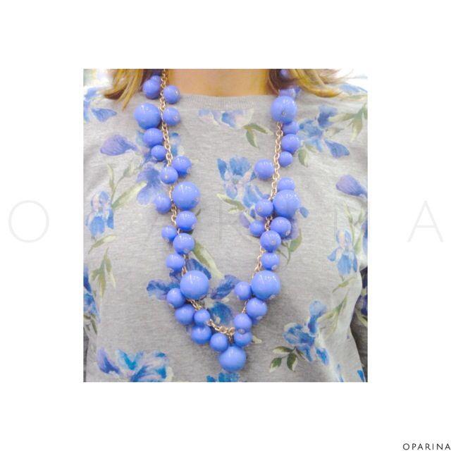 Collar Azul-Morado de Bolas en Oparina !! #lookoftheday #oparina #statementnecklace #necklace #boho #bohochic #gypsy  #madewithstudio