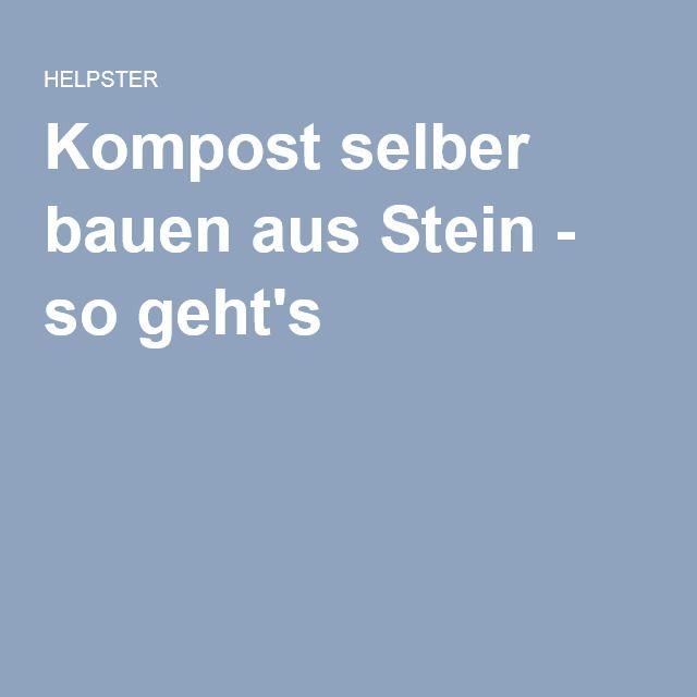 25+ Beste Ideeën Over Selber Bauen Komposter Op Pinterest ... Bio Komposter Aus Holz Selber Bauen Anleitung In Einfachen Schritten