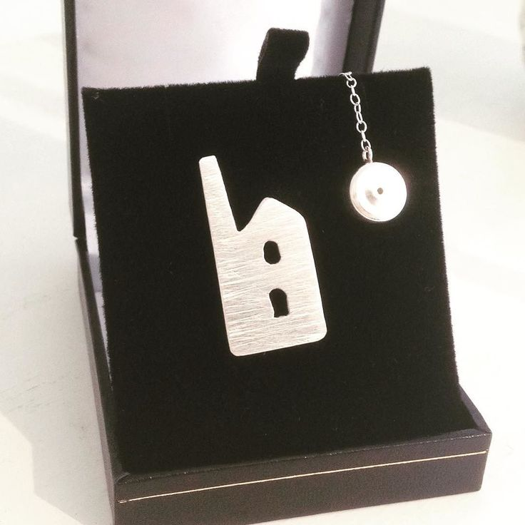 Beautiful silver engine house tie pin from @sineads.silver.design just 30 each