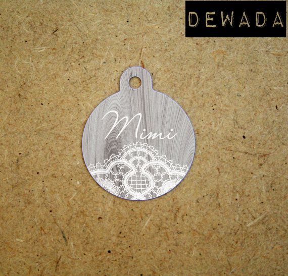 Pet ID Tags Personalized by DeWadaSTORE