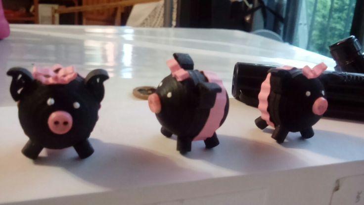 Quilling pig negrito tutu filigrana cerdito