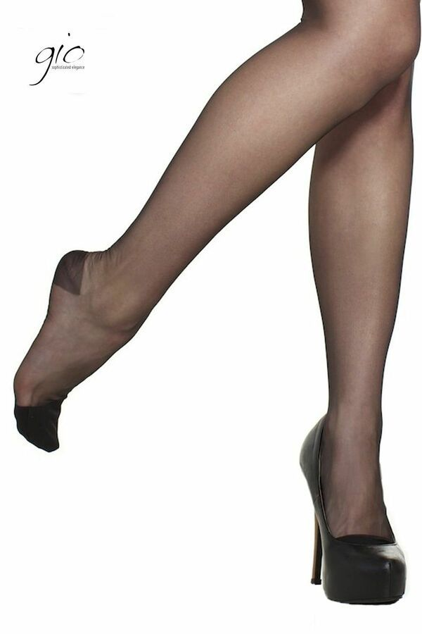Ladies Fashion Hosiery Natural Look Effect Invisible Sandal Toe Hold Up Stockings