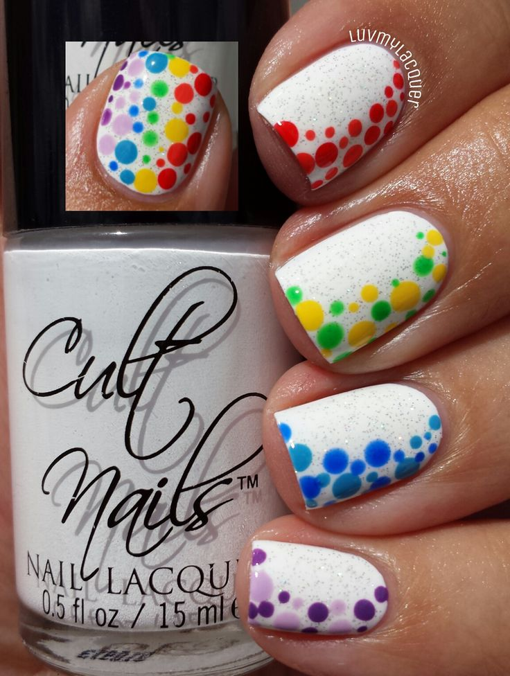 Rainbow Nails - dots
