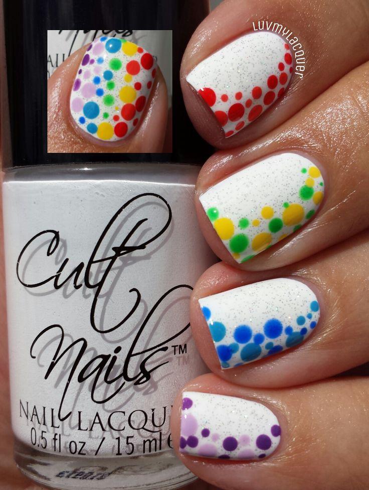 Rainbow Nails - dots