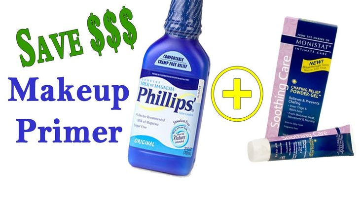 (((Inexpensive))) Makeup Primer:  Milk of Magnesia | Monistat Chafing Po...