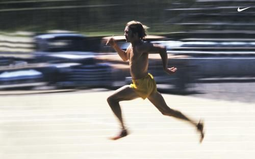 Stride it out! This reminds me that speed work can do wonders. Steve Prefontaine - Nike