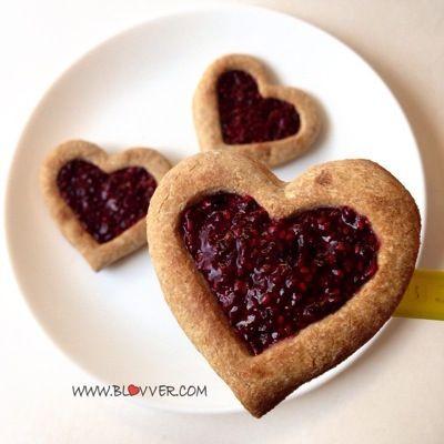 Galletas de avena y dulce de berry. recetasfit